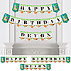 Let's Hang - Sloth - Personalized Birthday Party Bunting Banner & Decorations