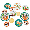 Let's Hang - Sloth - Personalized Baby Shower or Birthday Party Giant Circle Confetti - Party Decorations - Large Confetti 27 Count