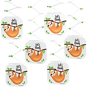 Let's Hang - Sloth - Party Hanging Decorations - 6 ct