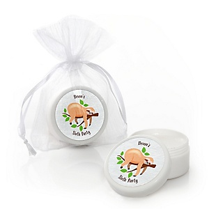 Let's Hang - Sloth - Personalized Party Lip Balm Favors - Set of 12