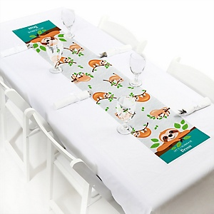 Let's Hang - Sloth - Personalized Party Petite Table Runner