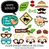 Let's Hang - Sloth - 20 Piece Baby Shower or Birthday Party Photo Booth Props Kit