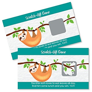 Let's Hang - Sloth - Party Game Scratch Off Cards - 22 ct