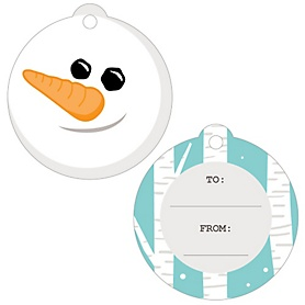 Let It Snow - Snowman - Holiday & Christmas Party To and From Favor Gift Tags - Set of 20