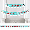 Let It Snow - Snowman - Personalized Holiday & Christmas Party Bunting Banner & Decorations
