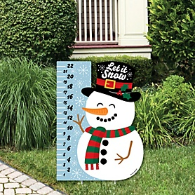 Snowman Snow Gauge - Party Decorations - Snow Measurement Welcome Yard Sign