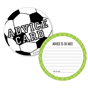 GOAAAL! - Soccer - Wish Card Baby Shower Activities - Shaped Advice Cards Game - Set of 20