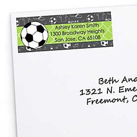 GOAAAL! - Soccer - Personalized Baby Shower Return Address Labels - 30 ct