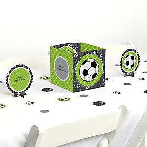 GOAAAL! - Soccer - Baby Shower Centerpiece & Table Decoration Kit