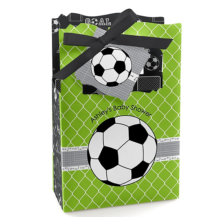 GOAAAL! - Soccer - Personalized Baby Shower Favor Boxes - Set of 12
