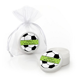 GOAAAL! - Soccer - Personalized Baby Shower Lip Balm Favors - Set of 12