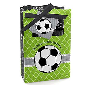 GOAAAL! - Soccer - Personalized Birthday Party Favor Boxes - Set of 12