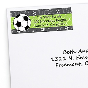 GOAAAL! - Soccer - Personalized Birthday Party Return Address Labels - 30 ct