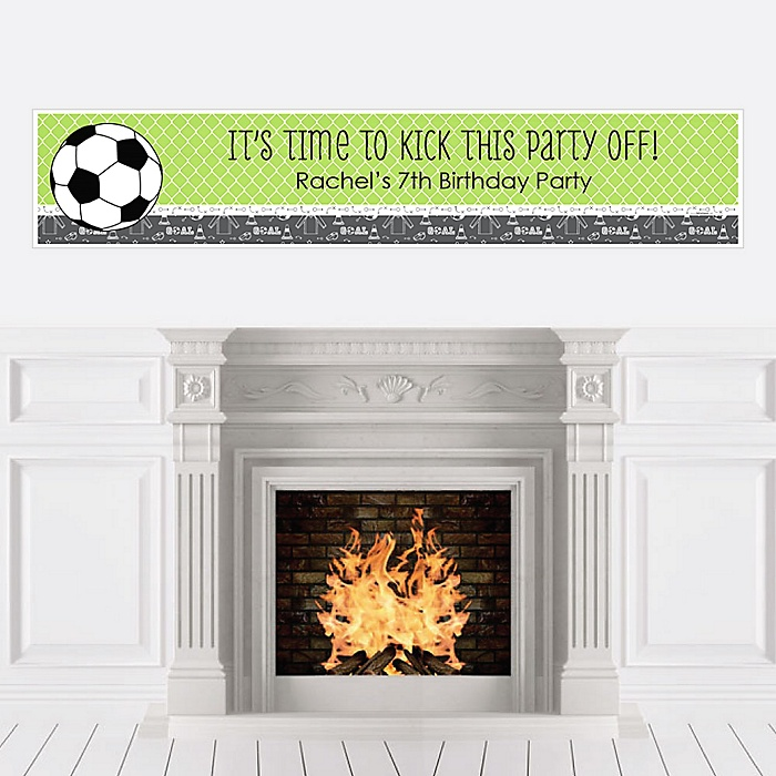 GOAAAL! - Soccer - Personalized Birthday Party Banners