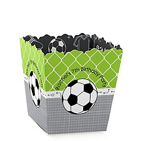 GOAAAL! - Soccer - Party Mini Favor Boxes - Personalized Birthday Party Treat Candy Boxes - Set of 12