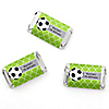GOAAAL! - Soccer - Personalized Birthday Party Mini Candy Bar Wrapper Favors - 20 ct