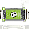 GOAAAL! - Soccer - Party Table Decorations - Personalized Birthday Party Placemats - Set of 12