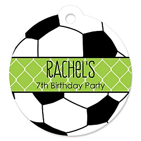 GOAAAL! - Soccer - Personalized Birthday Party Tags - 20 ct