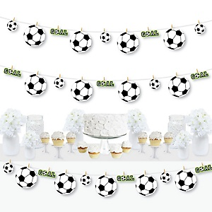 GOAAAL! - Soccer - Baby Shower or Birthday Party DIY Decorations - Clothespin Garland Banner - 44 Pieces