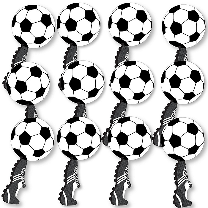 GOAAAL! - Soccer Fundraising - Spirit Cheer Gear - Fan Sports Swag Paddles - Set of 12
