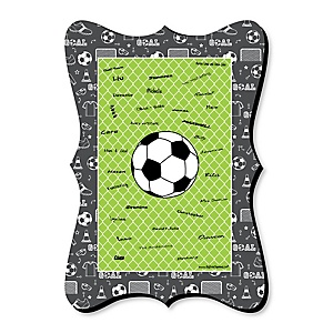 GOAAAL! - Soccer - Unique Alternative Guest Book - Baby Shower or Birthday Party Signature Mat