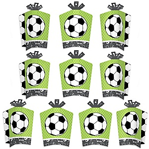 GOAAAL! - Soccer - Table Decorations - Baby Shower or Birthday Party Fold and Flare Centerpieces - 10 Count