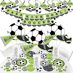 GOAAAL! - Soccer - Baby Shower or Birthday Party Supplies - Banner Decoration Kit - Fundle Bundle