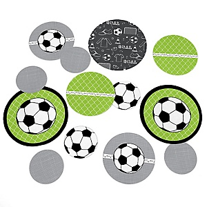 GOAAAL! - Soccer - Baby Shower or Birthday Party Table Confetti - 27 ct