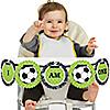 GOAAAL! - Soccer - 1st Birthday - I Am One - First Birthday High Chair Banner
