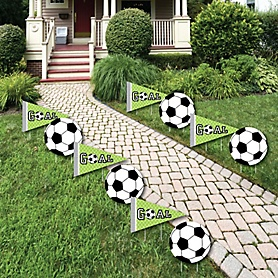 GOAAAL! - Soccer - Lawn Decorations - Outdoor Baby Shower or Birthday Party Yard Decorations - 10 Piece