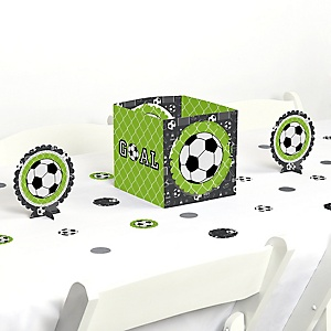 GOAAAL! - Soccer - Baby Shower or Birthday Party Centerpiece and Table Decoration Kit