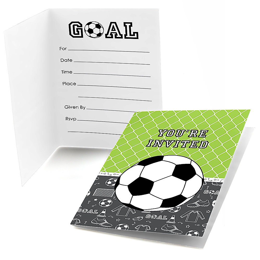 Goaaal Soccer Fill In Party Invitations 8 Ct