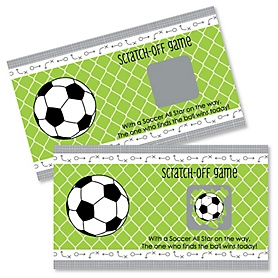 GOAAAL! - Soccer - Baby Shower Game Scratch Off Cards - 22 ct