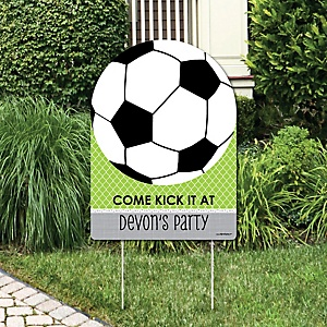 GOAAAL! - Soccer - Party Decorations - Birthday Party or Baby Shower Personalized Welcome Yard Sign