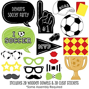 GOAAAL! - Soccer - 20 Piece Photo Booth Props Kit