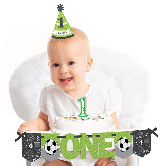 GOAAAL! - Soccer 1st Birthday - First Birthday Boy or Girl Smash Cake Decorating Kit - High Chair Decorations