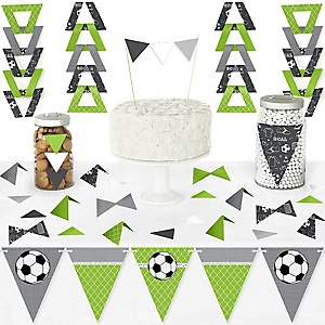 GOAAAL! - Soccer - DIY Pennant Banner Decorations - Baby Shower or Birthday Party Triangle Kit - 99 Pieces