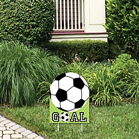 GOAAAL! - Soccer - Outdoor Lawn Sign - Baby Shower or Birthday Party Yard Sign - 1 Piece