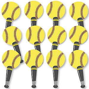 Grand Slam - Fastpitch Softball Fundraising - Spirit Cheer Gear - Fan Sports Swag Paddles - Set of 12