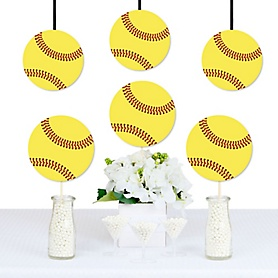 Grand Slam - Fastpitch Softball - Decorations DIY Baby Shower or Birthday Party Essentials - Set of 20