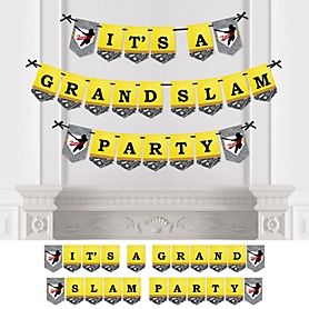 Grand Slam - Fastpitch Softball - Birthday Party or Baby Shower Bunting Banner - Party Decorations - It's A Grand Slam Party