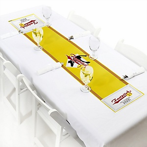 """Grand Slam - Fastpitch Softball - Personalized Petite Baby Shower or Birthday Party Table Runner - 12"""" x 60"""""""