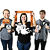 Spooky Ghost - Personalized Halloween Party Selfie Photo Booth Picture Frame & Props - Printed on Sturdy Material
