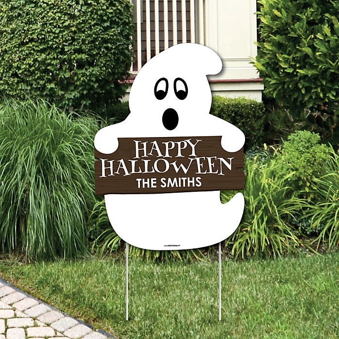 Spooky Ghost - Party Decorations - Halloween Party Personalized Welcome Yard Sign