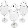 Spooky Ghost - Shaped Halloween Party Wine Glass Markers - Set of 24