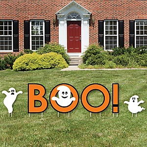 Spooky Ghost - Yard Sign Outdoor Lawn Decorations - Halloween Party Yard Signs - Boo