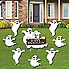 Spooky Ghost - Yard Sign & Outdoor Lawn Decorations - Halloween Party Yard Signs - Set of 8