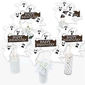 Spooky Ghost - Halloween Party Centerpiece Sticks - Table Toppers - Set of 15