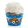 All Star Sports - Baby Shower Decorations - Party Cupcake Wrappers - Set of 12