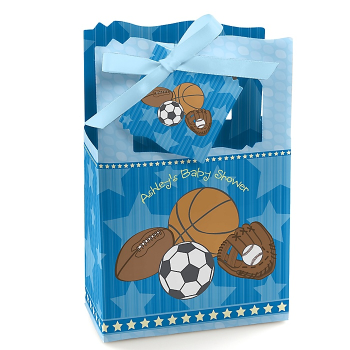 All Star Sports - Personalized Baby Shower Favor Boxes - Set of 12